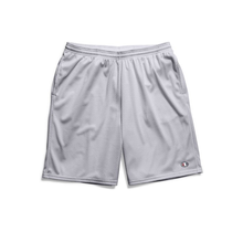 Champion Men's  Long Mesh Shorts with Pockets - 81622 - Silver