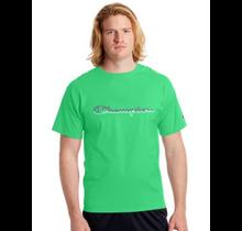 Champion Men's Jersey Tee, Split Script Logo GT23H Y08126 -  Green Myth