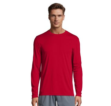 Hanes Cool Dri Long Sleeve Shirt 482 | Deep Red
