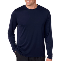Hanes Cool Dri Long Sleeve Shirt 482 | Navy