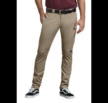 Dickies Men's Skinny Fit Straight Double Knee Work Pant   Desert Khaki