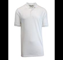 Galaxy Unisex Boys School Uniform Polo | White