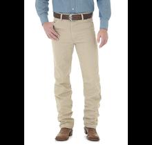 Wrangler Men's Cowboy Cut Slim Fit Denim Jean 936TAN, Prewashed Tan