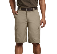 "Dickies Men's 11"" Regular Fit Stretch Twill Cargo Short | Desert Sand"