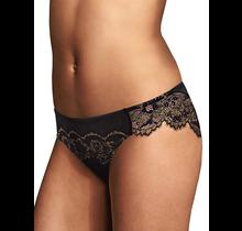 Maidenform® Comfort Devotion® Lace Back Tanga 40159 W7Y| Black/Gold