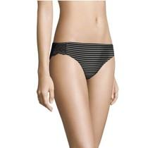 Maidenform® Comfort Devotion® Lace Back Tanga    Steel Pin Stripe w/Black
