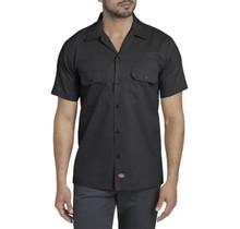 Dickies Men's Slim Fit S/S FLEX Twill Work Shirt   Black