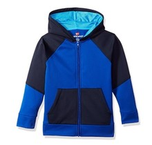 Hanes Sport™ Boy's Tech Fleece Full Zip Hoodie | Surf The Web/Navy/Hydro