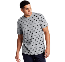 Champion Sportstyle Tee, All Over Logo | C Allover Oxford Grey