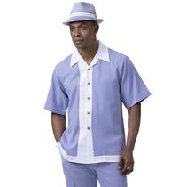 Montique Men's Classic Two Piece Set 2072- D | Lavender