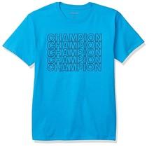 Champion Men's Graphic Short Sleeve | Deep Water Blue - Repeat Logo