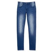 WT02 Men's Skinny Denim Pants, Medium Indigo | 20191-3090