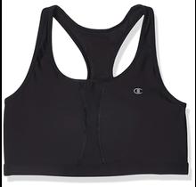 Champion Women's Plus-Size Vented Compression Sports Bra QB6632 001   Black