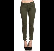 ENJEAN Junior's Basic Skinny Push Up Pants | Dark Olive