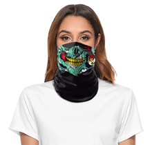 Tube Face Mask Multiclava | Skull Face | Green/Black