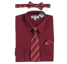 Gioberti Toddler's Dress Shirt  | Burgundy