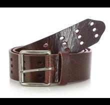 Wrangler Men's Triple Perforated Leather Belt | Brown