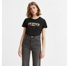 Levi Strauss The Perfect Tee Boxtab Fill Caviar Graphic 17369-0998