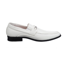 Joseph Allen Big Kids Dress Shoes Buckle | White