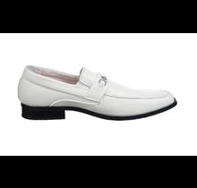 Joseph Allen Big Kids Dress Shoes Buckle | White