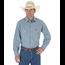 Wrangler Wrangler Men's Western Work Shirt Washed Finish, Medium Blue Chambray 70136MW