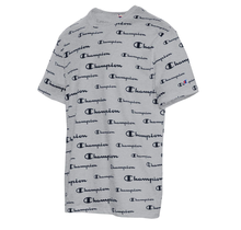 Champion Sportstyle Tee, All Over Logo T5747P 1QT | Solid Scripts Oxford Grey
