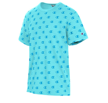 Champion Sportstyle Tee, All Over Logo | C Allover Blue Horizon