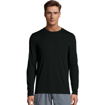 Hanes Cool Dri Long Sleeve Shirt | Black