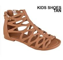 Belladia Girl's Gladiator Sandal   Tan