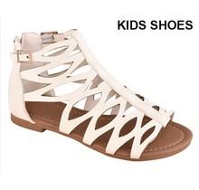 Belladia Girl's Gladiator Sandal | White