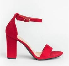 Refresh Open-Toe High Heels | Red