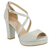 Top Moda Heel Asia-75   Silver Glitter