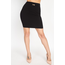 IRIS IRIS Knit Mini Skirt w/ Buckle Accent IS1267 | Black