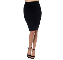 IRIS Knit Knee-length Skirt IS1260 | Black