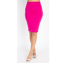 IRIS Knit Knee-length Skirt IS1260 | Magenta
