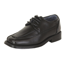 Joseph Allen Big Kid's Oxford Lace up Dress Shoes JA80336 | Black