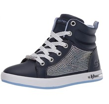 Skechers Kids Girls' Shoutouts Sparkle & Style Sneaker | Navy 84360L
