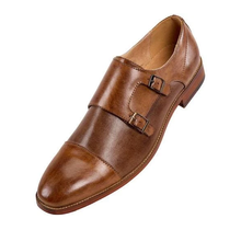 Amali Double Monk Strap Dress Shoe | Merlin | Brown