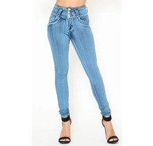 4 Button Columbian Style Push-Up Denim 2396SN | Light Blue