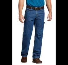 Dickies Men's Relaxed Fit Carpenter Denim Jeans   Stonewashed Indigo Blue
