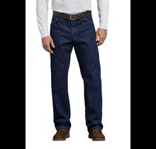 Dickies Men's Relaxed Fit Carpenter Denim Jeans | Rinsed Indigo Blue