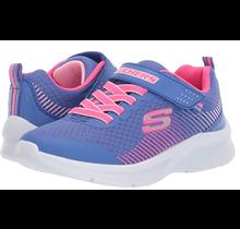 Skechers Kids' Microspec Sneaker 302016N | Blue/Neon Coral