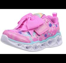Skechers Little Girls' Heart Lights Sparkle Sparks Sneaker 20265N