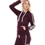 Reflex Reflex French Terry Zip-Up Hoodie w/ Love Print JK382 | Plum