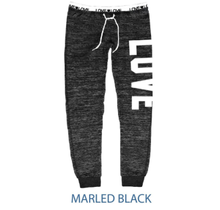 Reflex Brushed Fleece Jogger w/ Love Waistband PA168 | Marbled Black