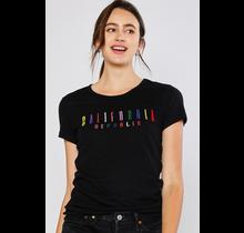 Reflex Solid Cotton Slub CA Embroidery Short Sleeve Tee S379| Black