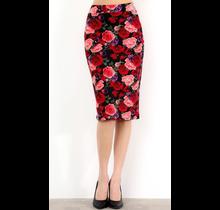 Floral Print Pencil Skirt 1160PRT-TU | Red