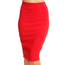 Solid Pencil Skirt 1160SCU | Red