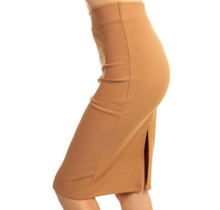 Solid Pencil Skirt 1160SCU | Khaki
