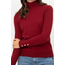 Warm & Cozy Solid Long Sleeve Turtle Neck Knit Top LT208 | Rust